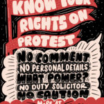 Know Your Rights on protest. This graphic lists the 5 Key Messages.