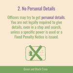 This graphic includes info about Key Message 2, No Personal Details