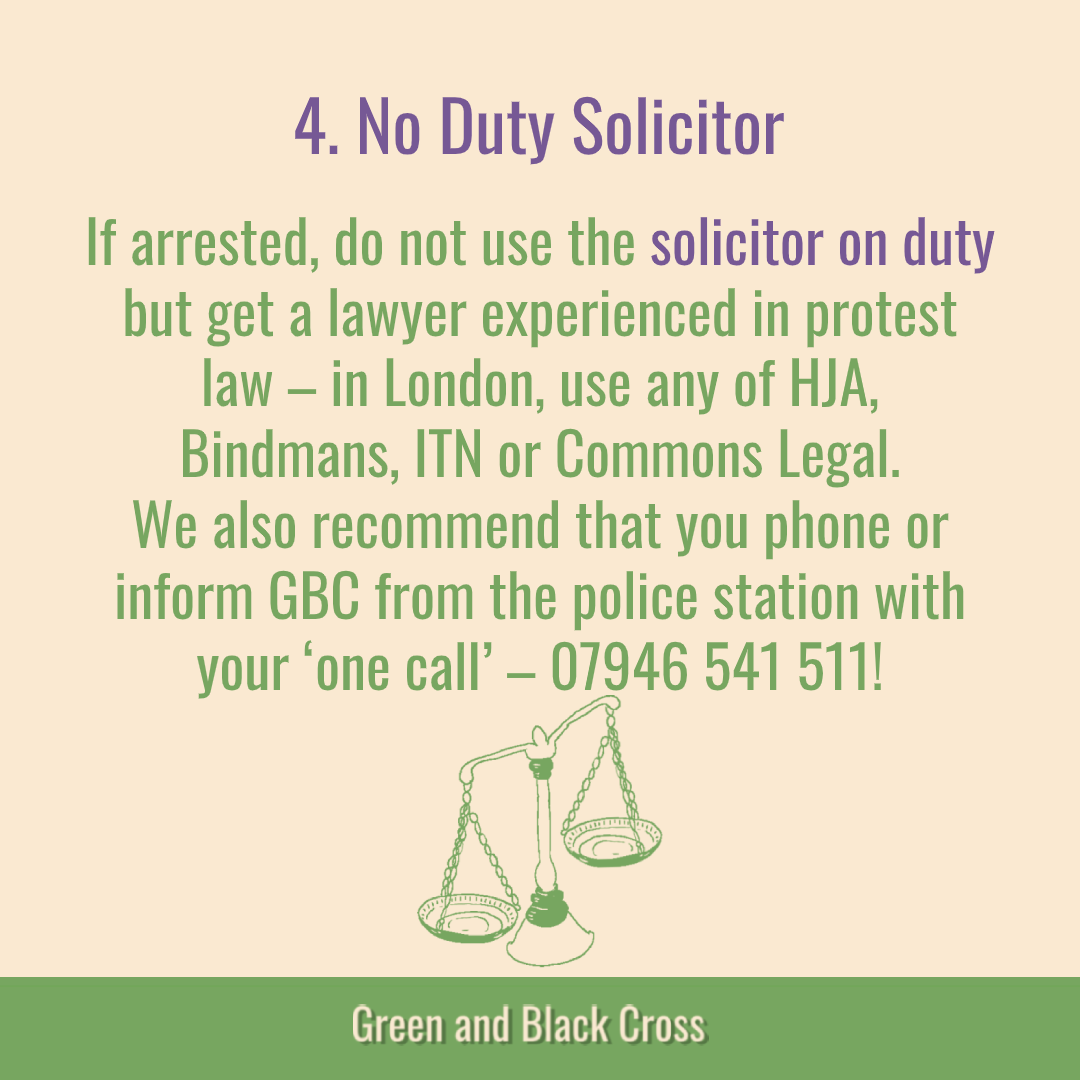 This graphic includes info about Key Message 4, No Duty Solicitor